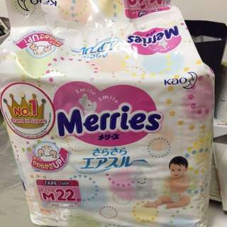 Merries M Size 22pcs