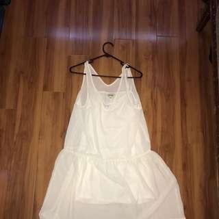8 Birdies White Dress And Slip