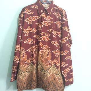 Batik Mega Mendung Royal Red Gold