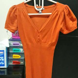 [Mango] Orange Blouse