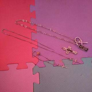 Necklace And Bracelets Cross Pendant