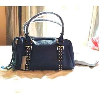 Jane Ellen Midnight Blue Medium Leather Satchel