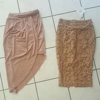 2 Beautiful Size 6 Missguided Skirts