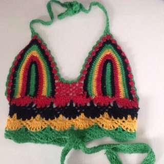 Rasta Crochet crop top