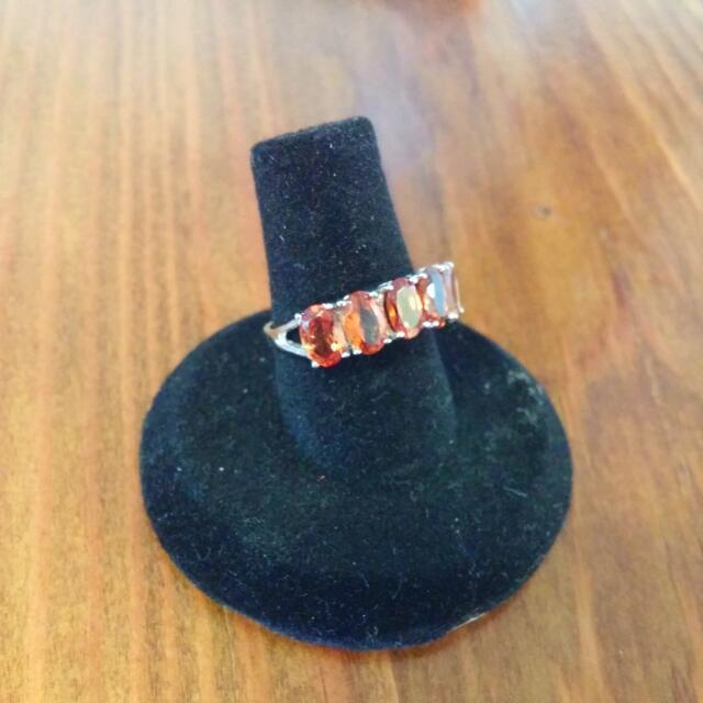 10kt White Gold And 5 Stone Madeira Citrine Ring