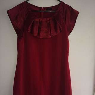 Red Stax Above The Knees Dress (size 14)