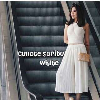 White Cullote / Kulot Putih / Cullot Prisket / Plisket