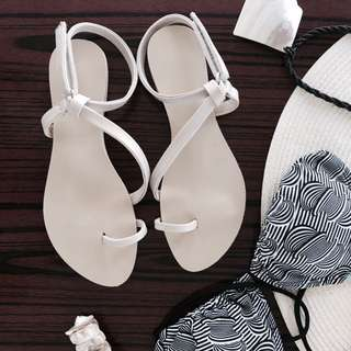 White strappy