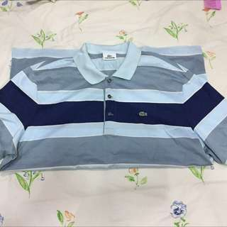 Lacoste polo shirt stripes For Sale