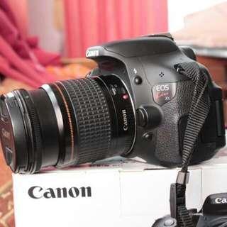 Canon Eos Kiss X5/600D Fullset dan 100% like new 4.500.000 nego
