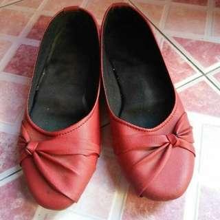 Flatshoes Ribbon Merah