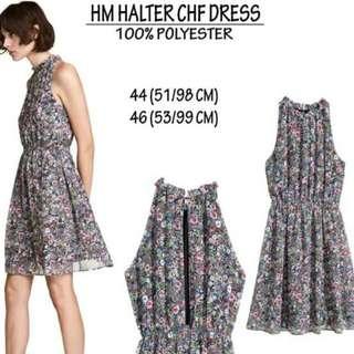 H&M HALTER CHF DRESS