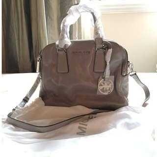 Michael Kors Ash Grey Medium Leather Satchel