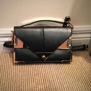 Edgy Black Leather Bag