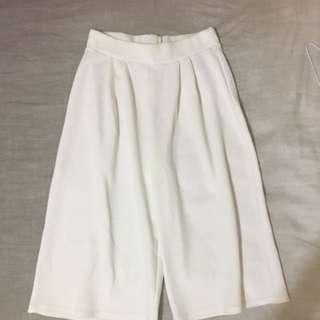 Boohoo White Culottes