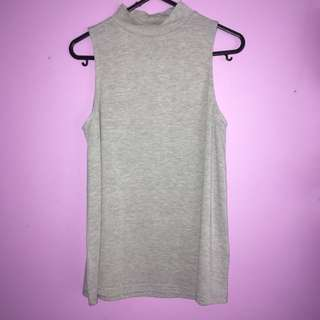 Grey Lose Mock Neck Tee