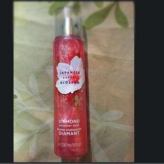 Original Bath & Body Works Japanese Cherry Blossom Diamond Shimmer Mist