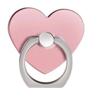 全新 玫瑰金心形手機指環支架