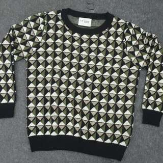 Greeny Cubes Sweater