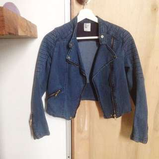 Divine (H&M) Denim Blue Zip Jacket (S-M)