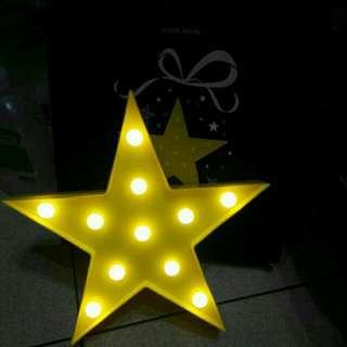 全新 Etude House 美夢成真 LED 星星 造型燈  小夜燈 限量商品