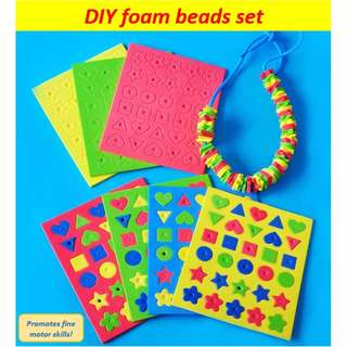 Colourful foam beads DIY / kids art and craft / goodie bags / party packs / fine motor skills