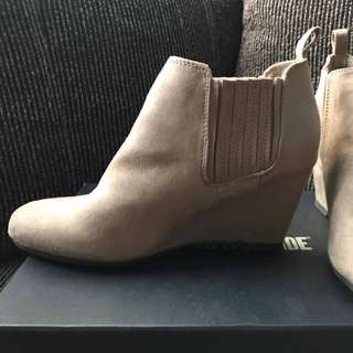 Payless Taupe Ankle Boots
