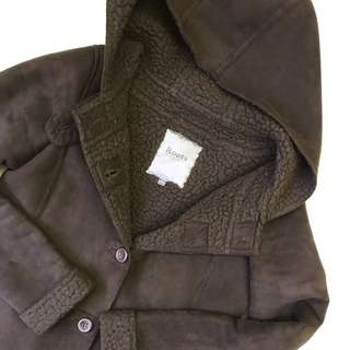 Roots 麂皮絨超保暖大衣外套