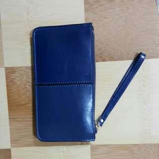 全新藍色時尚手拿包