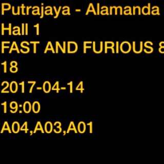 fast and furious ticket