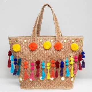 🚚 Glamorous straw bag
