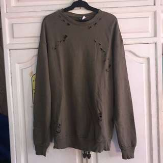 H&M Distressed Oversized Sweater