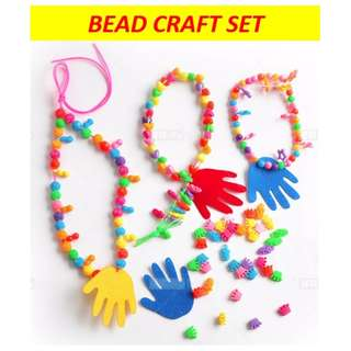 Colourful bead craft set / Kids DIY art / handicraft / goodie bags / party packs ideas