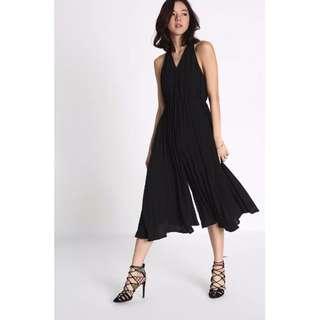 Love Bonito Jacenia Pleated Midi Jumpsuit in Black Size L