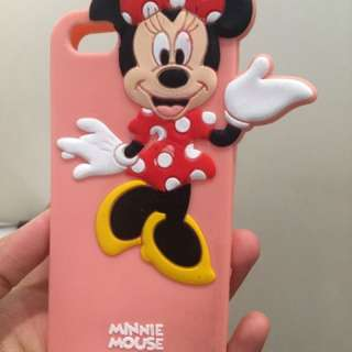 iphone 5/ 5s case minnie mouse caracter soft case