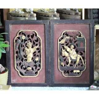 Pair of Vintage Carvings