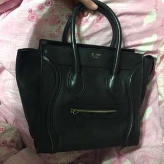 Celine Micro Luggage Bag Black