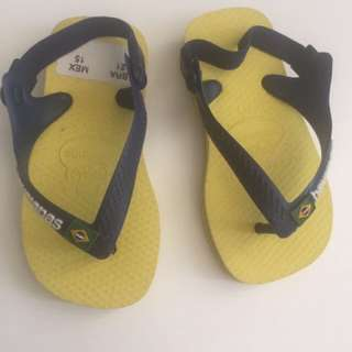 Baby Havaianas Yellow/Blue