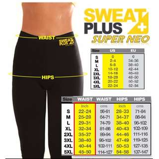 🎀Ready Stock!  🎀LONG VERSION Slimming/ Fitness Pants from Sweat Plus+ Super Neo