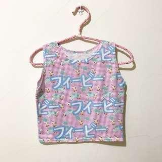 萌萌の日文字短版背心