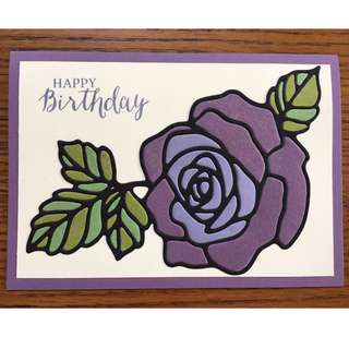 Stained Glass Effect Birthday Card