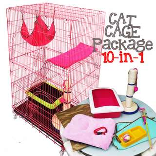 [NEW PRICE] 10-in-1 Cat Cage Package! (with Delivery)