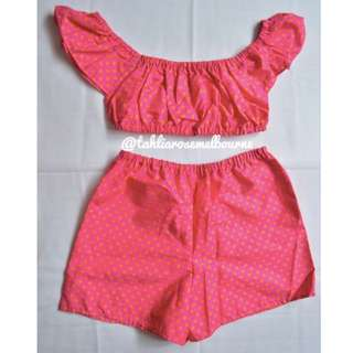 Pink Polka Dot Set