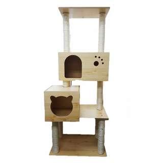 Cat Condo Cat House Cat Tree Wooden 148