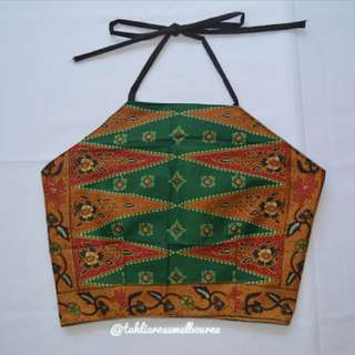 Indonesian Batik Halter Top