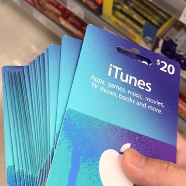 $20 iTunes Gift Cards
