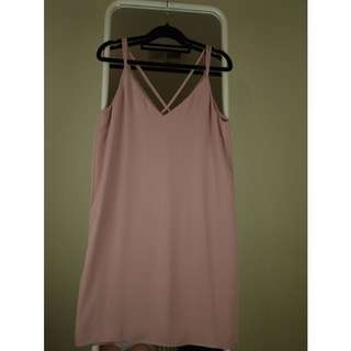 TOPSHOP SLEEVELESS DRESS BLUSH PINK