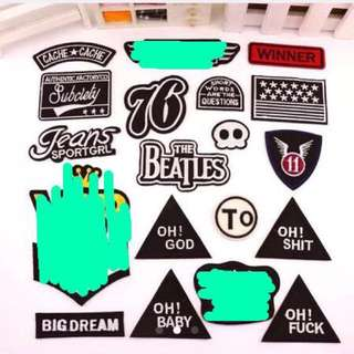 Ready Stock Patches