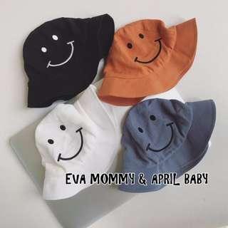夏季新品-新生兒男女寶寶微笑寶寶遮陽漁夫帽