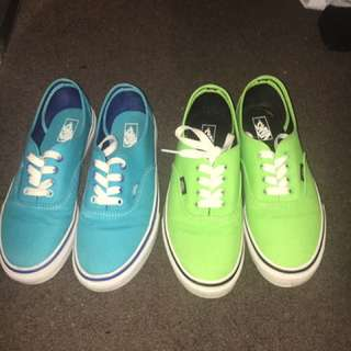 Blue And Green Vans